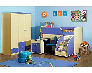 Комплект мебели для детской Радуга синяя