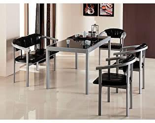 Стол обеденный с тонированным стеклом Элегия