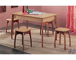 Стол обеденный с подъемно-поворотной вставкой Элегия