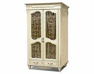 Шкаф 2х дверный для одежды (остекленный) ФанДОК Фиерта, арт. 47-02.1