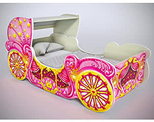 Кровать Фанки Кидз Карета мини с куполом, арт 20014