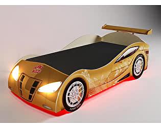 Кровать-машина Фанки Кидз Ниссан D05 (золотой с узором)