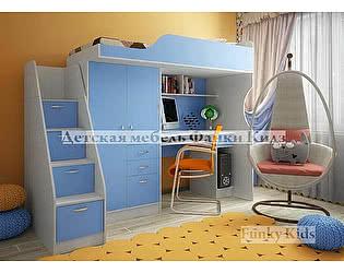 Кровать-чердак со встроенным столом Фанки Кидз 4