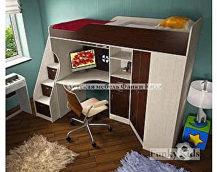 Кровать-чердак со встроенным столом Фанки Кидз 7