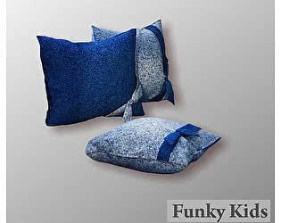 Комплект 3 диванные декоративные подушки Фанки Крем