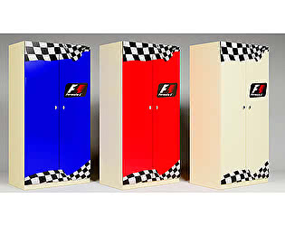 Шкаф 2х створчатый Фанки Беби Формула-1, арт. ФБ-Ш3