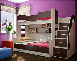 Кровать трехъярусная Фанки Кидз 21