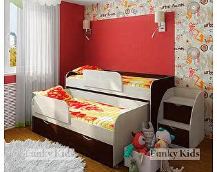 Кровать двухъярусная низкая  Фанки Кидз 8