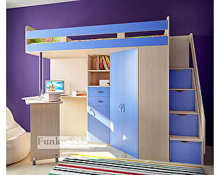 Купить кровать Фанки Кидз -чердак Соло-1