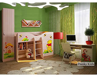 Мебель для детской комнаты Фанки Винни Пух