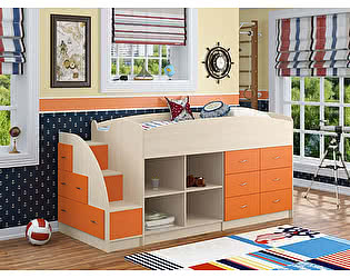 Кровать-чердак Формула мебели Дюймовочка 4.1