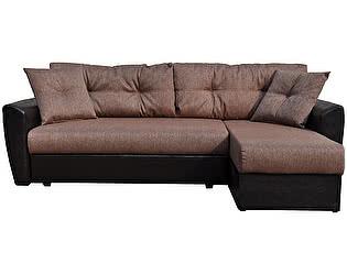 Диван угловой Амстердам рогожка коричневая 150