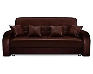 Купить диван FotoDivan Престиж 160 экокожа коричневая