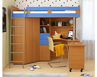 Кровать-чердак Гармония Карлсон 2 с металлической лестницей, арт. 14.717