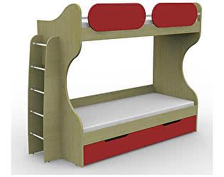 Кровать Гармония Teen`s Home двухъярусная с лестницей 17.102.00+17.164.00