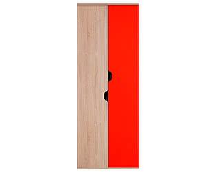 Шкаф для одежды и белья Глазов Автобус 4 (дуб сонома/красный)