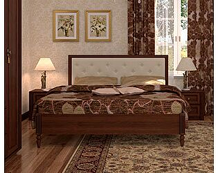 Кровать 1 (180) Montpellier Глазов, орех шоколадный