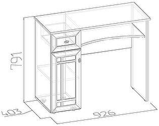 Стол туалетный Глазов Sherlock 53