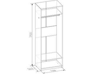 Шкаф Глазов Бриз 54 (корпус) для одежды
