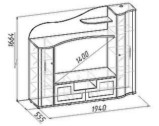 Шкаф Глазов Марракеш МЦН-5 mini (фасад стандарт)