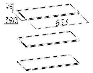 Комплект полок Глазов Марракеш шкафа для одежды и белья (3 шт)