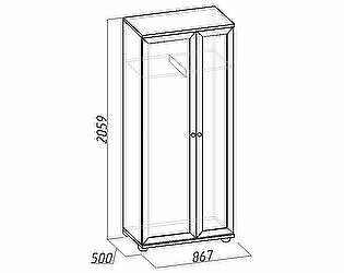 Шкаф Глазов Марракеш для одежды и белья (фасад стандарт)
