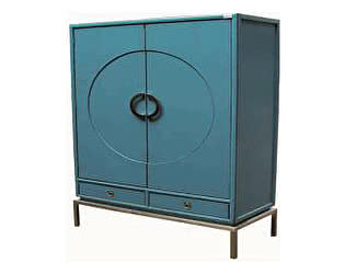 Шкаф черный Gudong FL7808
