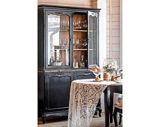 Буфет стеклянный с дверками Belveder Saphir Noir, ST 9132N