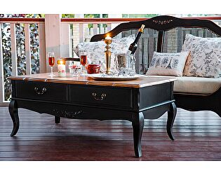 Столик чайный с 2 ящиками Belveder Saphir Noir, ST 9143N