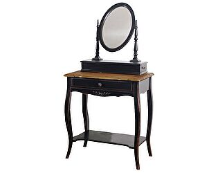 Столик туалетный с овальным зеркалом Belveder Saphir Noir, ST 9121N