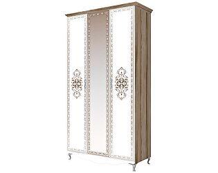 Шкаф 3х дверный с зеркалом Ижмебель Династия, мод. 9