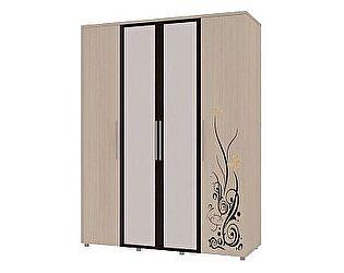 4-х дверный шкаф для одежды с зеркалом Марианна АРТ-5