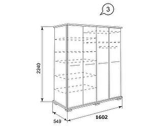 Шкаф для одежды Ижмебель Олеся АРТ 03 (слива/кокос)