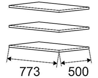 Комплект полок Ижмебель Танго к модели 01 (3 шт)