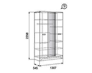 Шкаф для платья и белья 3х дверный 09 Терра-Люкс Ижмебель