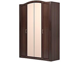 Шкаф 4х дверный с зеркалами Ижмебель Виктория (дуб тортона глянец), арт.01