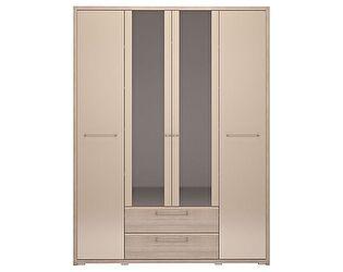 Шкаф Ижмебель Вива 4х дверный с ящиком (с зеркалом), арт.9
