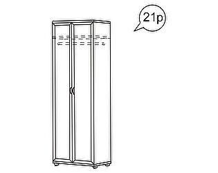 Шкаф для одежды Ника-Люкс АРТ 21Р