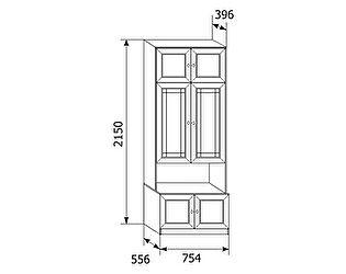 Шкаф для посуды Ребекка АРТ-10