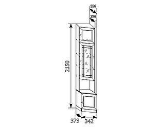 Угловой шкаф для книг Ребекка (левый) АРТ-12