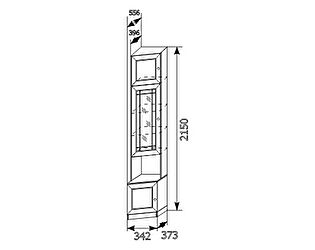Угловой шкаф для книг Ребекка (правый) АРТ-13