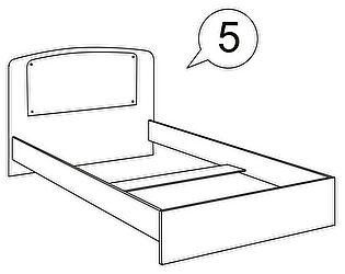 Кровать с постером Ижмебель Бьянка АРТ 5