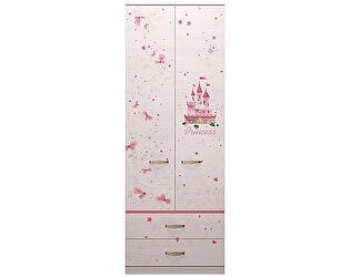 Шкаф Ижмебель Принцесса 20 для одежды с ящиками