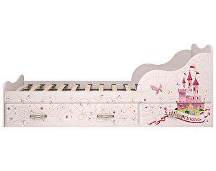 Купить кровать Ижмебель Принцесса (90)  с ящиками 5 (комплектация 1)