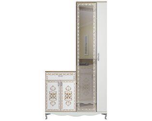 Шкаф для платья с тумбой (с зеркалом) Ижмебель Династия, арт. 30