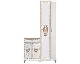 Шкаф для платья с тумбой (без зеркала) Ижмебель Династия, арт. 30