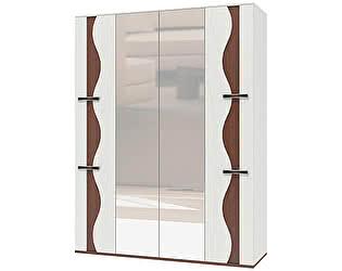Шкаф 4х дверный для платья и белья Интеди Футура, ИД 01.62