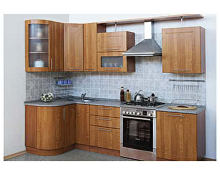 Кухонный гарнитур Трапеза-Престиж 1230х2700 мм с гнутыми фасадами