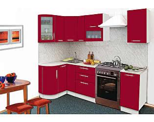 Кухонный гарнитур Трапеза-Престиж 1230х2085 мм с гнутыми фасадами