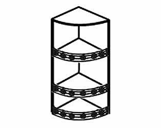 Полка торцевая с балюстрадам АРТ: В-62